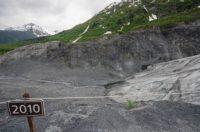 Rückgang des Exit-Glacier seit 2010