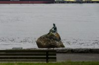 Girl in a Wetsuit im Stanley Park
